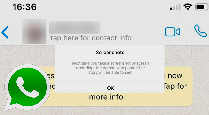 WhatsApp impedirá que saques capturas de pantalla de tus chats