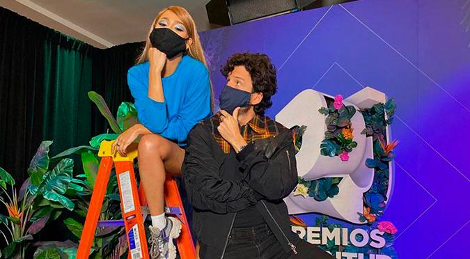 Las imágenes de Danna Paola y Sebastián Yatra juntos que sorprendieron | VIDEO