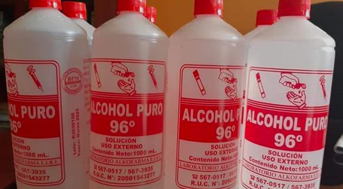 Coronavirus en Perú: Digemid pide a farmacias no usar ni recomendar alcohol de 96° como desinfectante de la piel