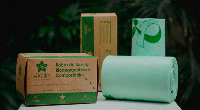 Bolsas de almidón de maíz: una alternativa que reemplaza al plástico y se transforma en abono orgánico