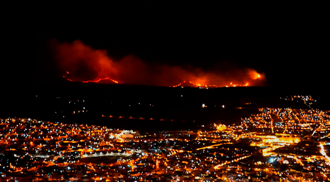 Incontrolable incendio forestal se registró en el Parque Arqueológico de Sacsayhuamán | VIDEO