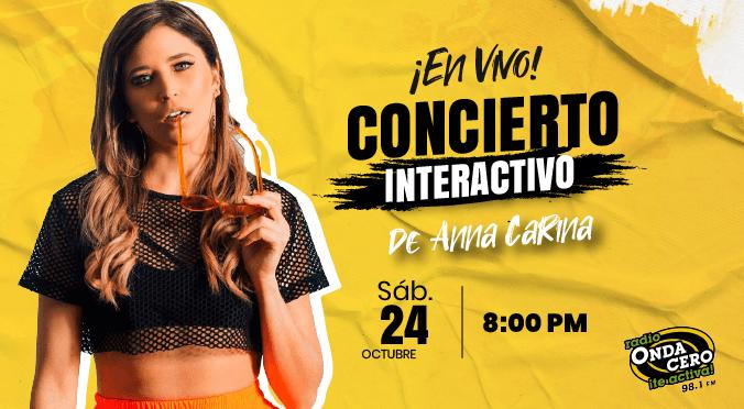 'Concierto Virtual con Anna Carina': Onda Cero anuncia el primer concierto interactivo en vivo