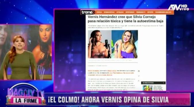 Magaly Medina se burla de Vernis Hernández por decir que Silvia Cornejo tiene baja autoestima   VIDEO