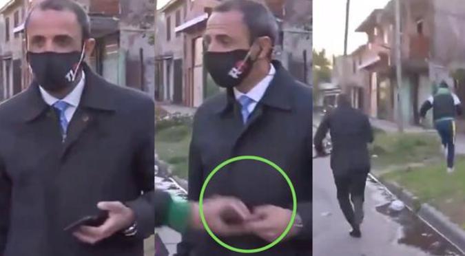 Reportero sufre robo de celular a poco de salir en un enlace en vivo | VIDEO