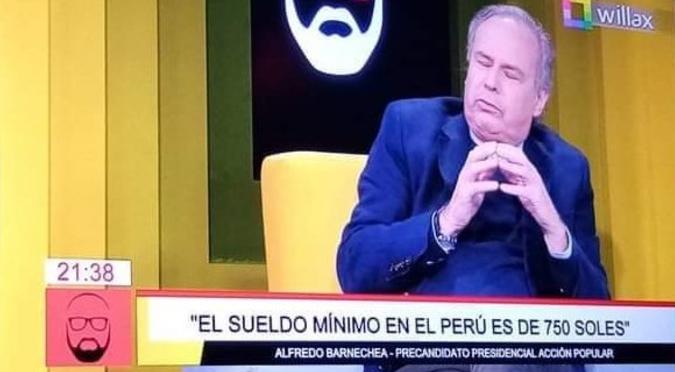 Alfredo Barnechea se equivoca y dice en entrevista que el sueldo mínimo en Perú es 750 soles | VIDEO