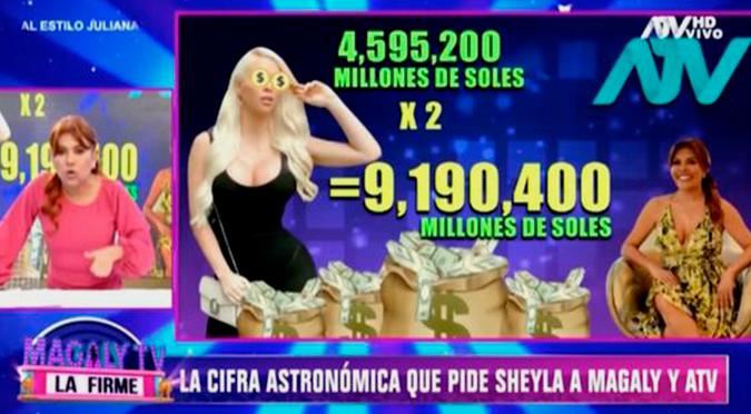 Magaly Medina indignada con la cantidad de dinero que le exige Sheyla Rojas | VIDEO