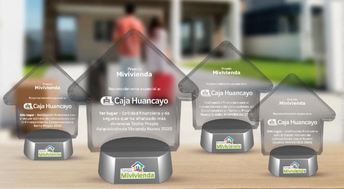 Premian a Caja Huancayo por apoyar a más familias en obtener su casa propia