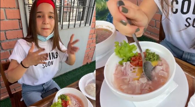 Influencer ecuatoriana asegura que el ceviche peruano lleva tomate y palta | VIDEO