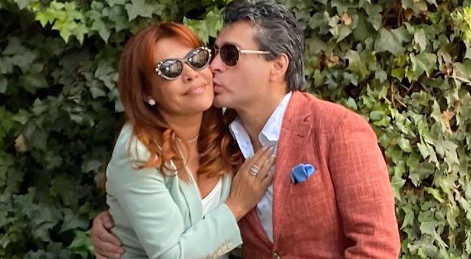 Magaly Medina y Alfredo Zambrano son captados en el aeropuerto luego de anunciar el fin de su matrimonio   VIDEO