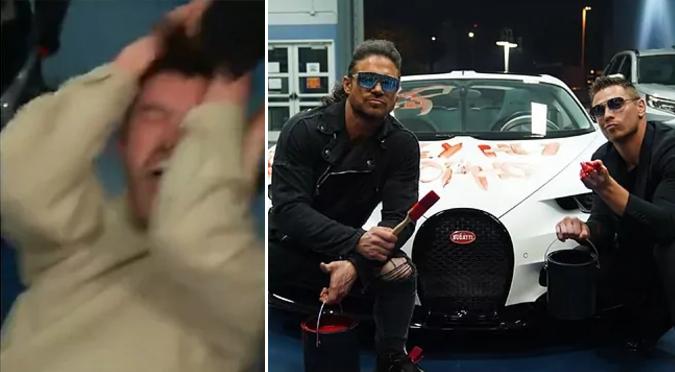Bad Bunny es golpeado y destruyen su auto deportivo previo a WrestleMania 37   VIDEO