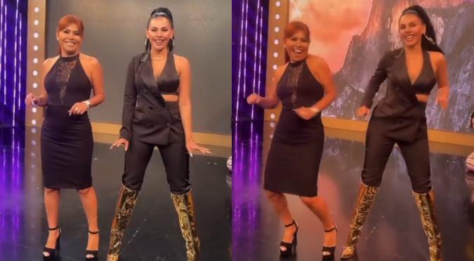 Magaly Medina y Stephanie Valenzuela bailaron al ritmo de 'El perdón' | VIDEO