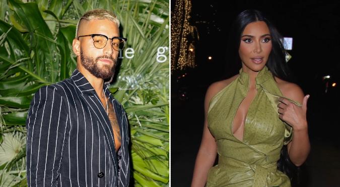 Maluma y Kim Kardashian de fiesta en Miami ¿Romance a la vista?